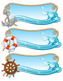 Sailing banner Stock Photo
