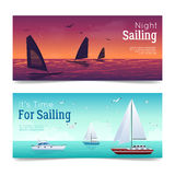 Sailing Banners Set Royalty Free Stock Images