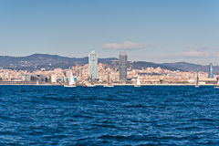 Sailing in Barcelona Royalty Free Stock Photos