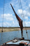 Sailing Barge Sail and Rigging Stock Images