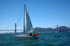 Sailing The Bay Stock Images