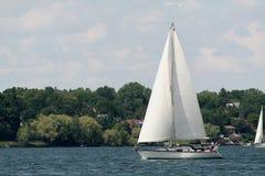 Sailing On The Bay Royalty Free Stock Photos