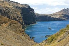 Sailing in the bay of Atlantic Stock Photo