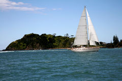 Sailing in the Bay of Islands,New Zealand Stock Images