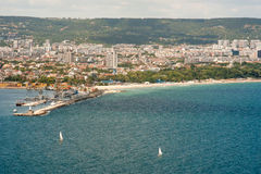Sailing in the Bay of Varna in Bulgaria Royalty Free Stock Images