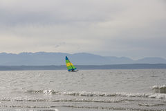 Sailing by beach Royalty Free Stock Photos