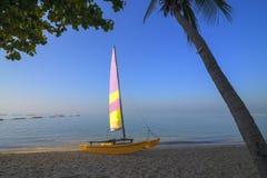 Sailing and beach at Pattaya Royalty Free Stock Images