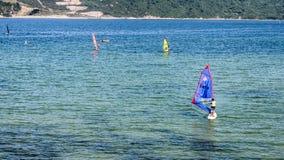 Sailing on beach Royalty Free Stock Image