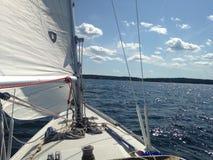 Sailing. Beatiful sailing in Stockholm archipelague Royalty Free Stock Photography