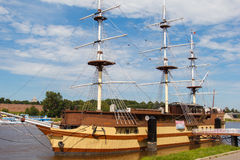 Sailing beautiful ship. Royalty Free Stock Image