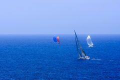 Sailing on the big blue ocean Royalty Free Stock Photos