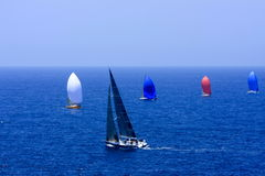 Sailing on the big blue ocean Royalty Free Stock Images
