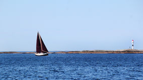 Sailing  black Royalty Free Stock Images