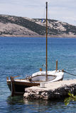 Sailing boat. In a pier in island Pag, Croatia Royalty Free Stock Images
