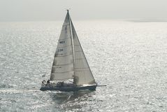 Sailing boat. On the sea Stock Photography