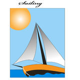 Sailing boat. Sport sailing boat is under the sunshine Stock Photography
