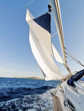 Sailing boat. In the sea Royalty Free Stock Images
