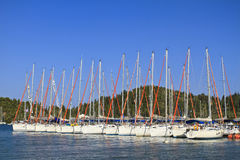 Sailing boat. Travelling in Greek islands Royalty Free Stock Photos