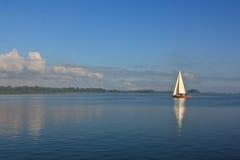 Sailing Boat. In Polish Lake Stock Photo