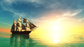 Free Sailing Boat Royalty Free Stock Photo - 21459195