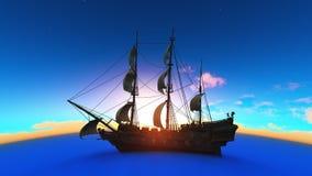 Sailing boat. Image of sailing boat and horizon Stock Images