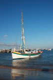 Sailing boat. In the cascais bay (Portugal Royalty Free Stock Image