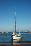 Sailing boat. In the cascais bay (Portugal Royalty Free Stock Photo