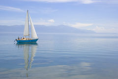 Sailing boat. In Ohrid lake Royalty Free Stock Photos