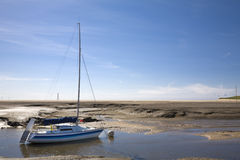 Sailing Boat. On estuarine river Royalty Free Stock Photo