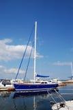 The sailing boat. At a mooring Stock Photo