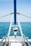 Sailing boat. On a beautiful blue sea Stock Photography