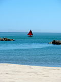 Sailing boat on the adriatic sea Royalty Free Stock Images