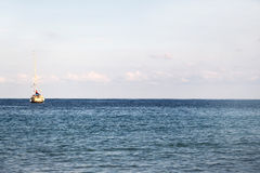 Sailing boat at anchor Royalty Free Stock Photography