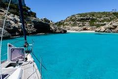 Sailing boat at anchor. Royalty Free Stock Photo