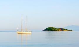 Sailing boat at anchor Royalty Free Stock Images