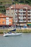 Sailing boat anchored Royalty Free Stock Photos