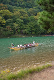 Sailing boat in arashiyama Royalty Free Stock Images