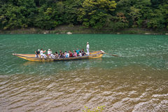 Sailing boat in arashiyama Stock Image