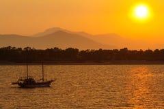Free Sailing Boat At Sunset Royalty Free Stock Photo - 15195055