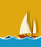 Sailing boat background Stock Photography