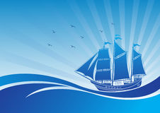Sailing boat background Royalty Free Stock Images