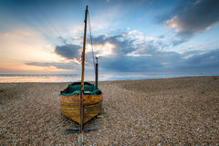 Sailing Boat on a Beach Royalty Free Stock Image