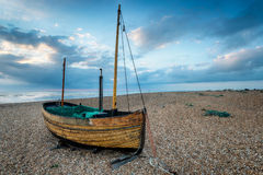 Sailing Boat on a Beach Royalty Free Stock Photos