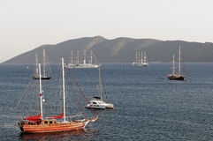 Sailing boat in Bodrum Royalty Free Stock Photo