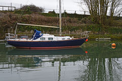 Sailing Boat In A Canal Royalty Free Stock Images
