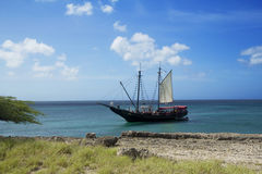 Sailing boat in the Caribbean. Stock Photography