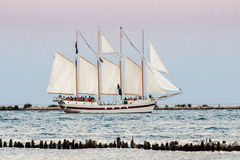 Sailing Boat in Chicago Royalty Free Stock Photography