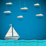 Sailing boat and clouds Stock Photos