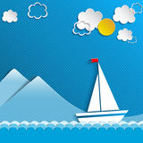 Sailing boat and clouds Stock Image
