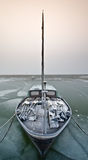Sailing boat on a cold day in winter Stock Photography